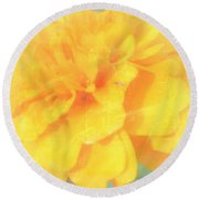 Mostly Yellow Round Beach Towel
