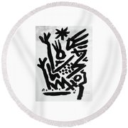 Mother And Child Reunion Round Beach Towel