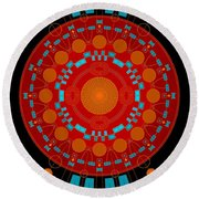 Mother Color Round Beach Towel