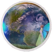 Mother Earth Series Plate3 Round Beach Towel