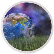 Mother Earth Series Plate4 Round Beach Towel