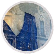 Mother House Round Beach Towel