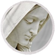 Mother Mary Comes To Me... Round Beach Towel by Greg Fortier