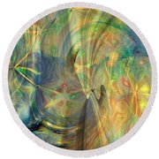Mother Of Angels Round Beach Towel