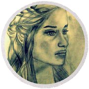 Mother Of Dragons Round Beach Towel