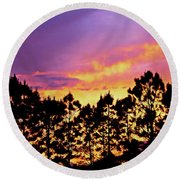 Mother Of Pearl Behind Tree Lace Round Beach Towel
