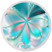 Mother Of Pearl Butterfly Round Beach Towel