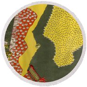 Mother Of Pearls Round Beach Towel