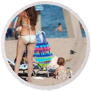 Mother Round Beach Towel