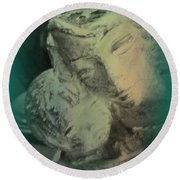 Mother With Infant Round Beach Towel