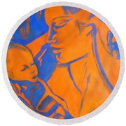 Motherhood II Round Beach Towel