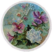 Mothers Althea Round Beach Towel