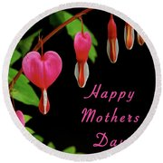 Mothers Day Card 6 Round Beach Towel