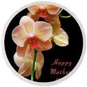Mothers Day Card 8 Round Beach Towel