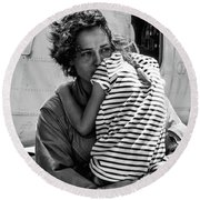 Mothers Day - Mommy Is Home From The War Round Beach Towel
