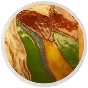 Mothers Kiss - Tile Round Beach Towel