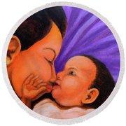 Mother's Love Round Beach Towel