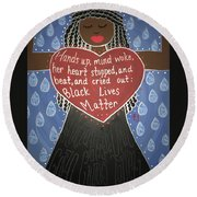 Mothers Of Black Lives Matter  Round Beach Towel