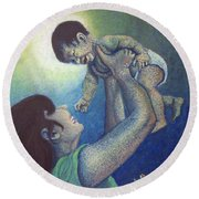Mother's Play Round Beach Towel