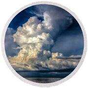 Mothership Thunderstorm  Round Beach Towel