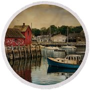 Motif Number One Round Beach Towel by Robin-Lee Vieira