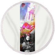 Motion Of Time Round Beach Towel