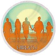 Motivational Travel Poster - Hireath 2 Round Beach Towel