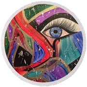 Motley Eye Round Beach Towel