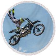Motocross Round Beach Towel