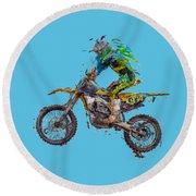 Motorbiker Round Beach Towel