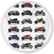 Motorcycle Concepts 2017-2018 Round Beach Towel