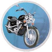 Motorcycle Round Beach Towel
