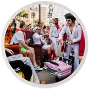 Motorized Recliners And Elvis - Nola Round Beach Towel