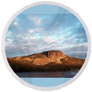 Mottled Sky Of Late Spring Round Beach Towel