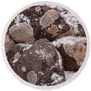 Mottled Stones Round Beach Towel