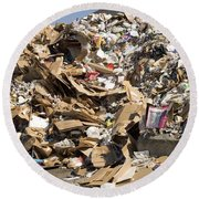 Mound Of Recyclables Round Beach Towel