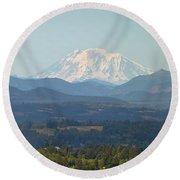 Mount Adams In Washington State Round Beach Towel