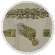 Mount And Cup Caster Round Beach Towel