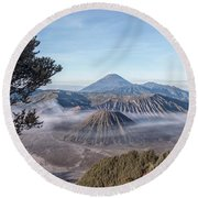 Mount Bromo National Park - Java Round Beach Towel