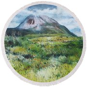 Mount Errigal County Donegal Ireland 2016 Round Beach Towel