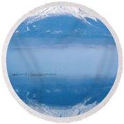 Mount Fuji Round Beach Towel