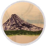 Mount Fuji And Power Of Mystery Round Beach Towel