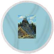 Mount Grace 1890 Apollinaris M Vasnetsov Round Beach Towel