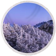 Mount Liberty Blue Hour Panorama Round Beach Towel