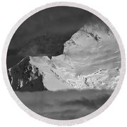 Mount Mckinley Round Beach Towel