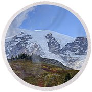Mount Rainier 3 Round Beach Towel