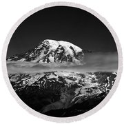 Mount Rainier Round Beach Towel
