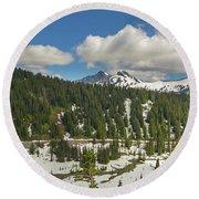 Mount Rainier National Park Tatoosh Range Round Beach Towel