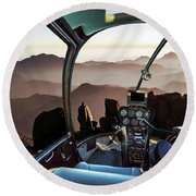 Mount Sinai Helicopter Round Beach Towel
