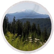 Mount St Helens In Washington State Round Beach Towel